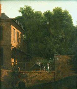 View taken at Essonnes   Jean Victor Bertin   Oil Painting