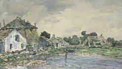 La mare du village | Johan Barthold Jongkind | Oil Painting