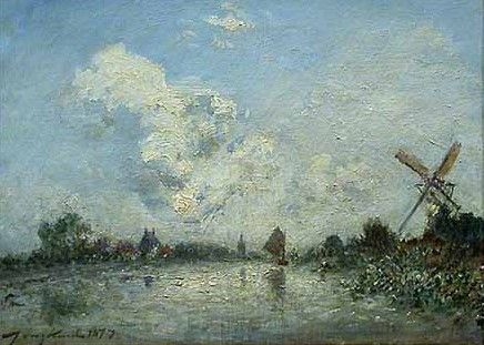 Canal in Holland | Johan Barthold Jongkind | Oil Painting