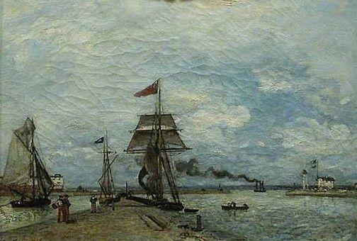 Port Entrance at Honfleur | Johan Barthold Jongkind | Oil Painting