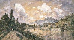 L'ile verte a Grenoble | Johan Barthold Jongkind | Oil Painting