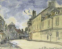 La Rue Saint-Etienne a Nevers | Johan Barthold Jongkind | Oil Painting