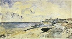 The Beach at Sainte Adresse | Johan Barthold Jongkind | Oil Painting