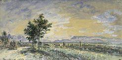 La route de Lyon a la Côte-Saint-André | Johan Barthold Jongkind | Oil Painting