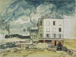 Le café des Ardennes near a Vacant Plot | Johan Barthold Jongkind | Oil Painting