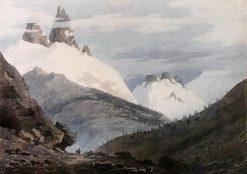 Entre Chamonix et Martigny | John Robert Cozens | Oil Painting