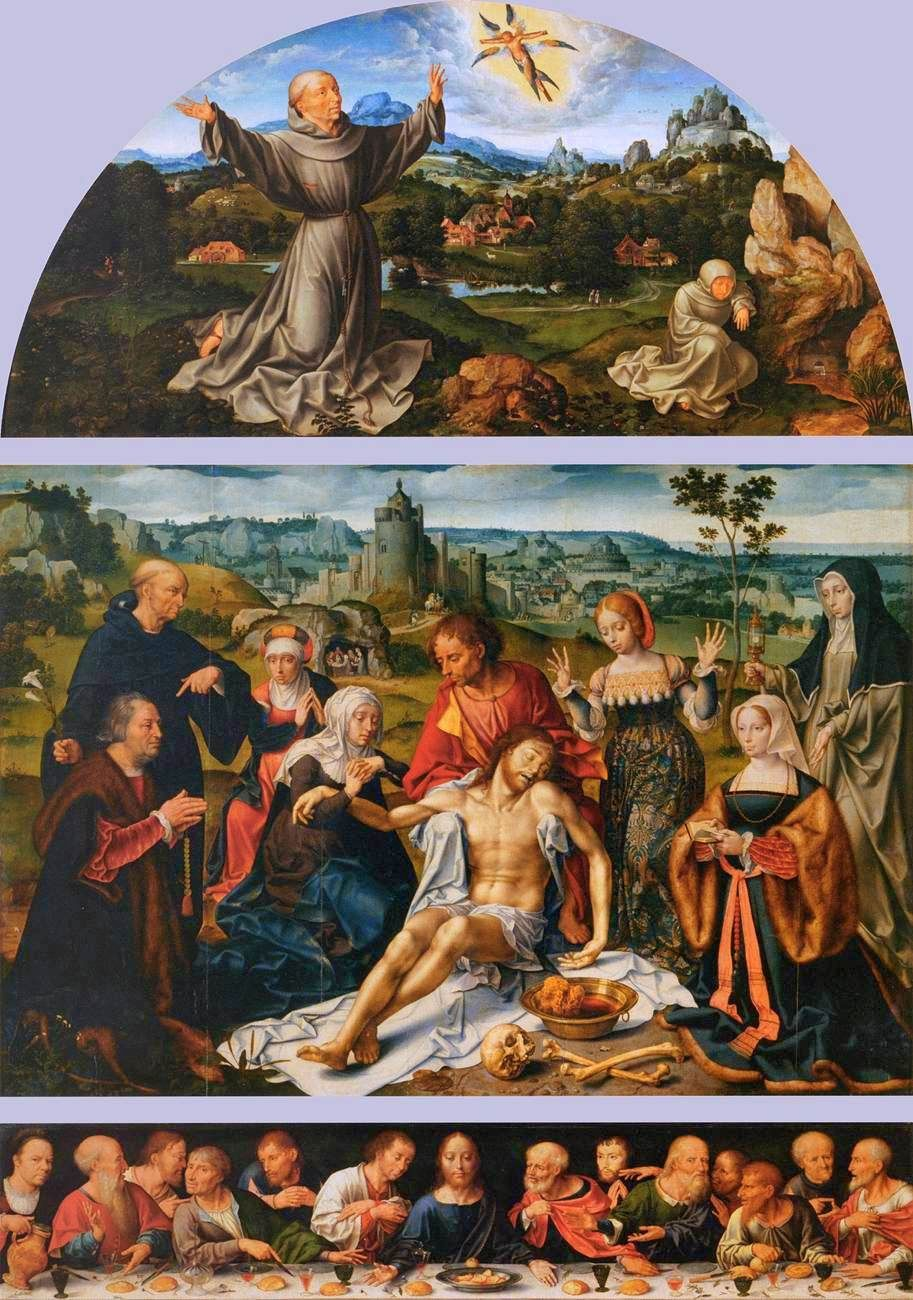 Altarpiece of the Lamentation | Joos van Cleve | Oil Painting