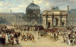 Un jour de revue sur l'Empire | Joseph Louis Hippolyte BellangE | Oil Painting