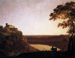 View of the Lake of Nemi | Joseph Wright of Derby | Oil Painting