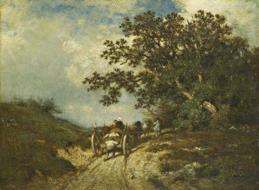 La petite charrette | Jules DuprE | Oil Painting