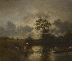 L'étang | Jules DuprE | Oil Painting