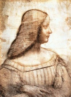 Portrait of Isabella d'Este | Leonardo da Vinci | Oil Painting