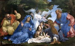 Holy Family with Three Angels
