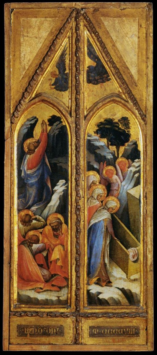 Diptych: Christ in the Garden of Olives and Female Saints at the Tomb | Lorenzo Monaco | Oil Painting