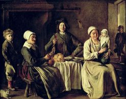 The Happy Family(also known as The Return from Baptism) | Louis Le Nain | Oil Painting
