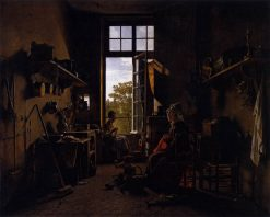 Interior of a Kitchen   Martin Drölling   Oil Painting