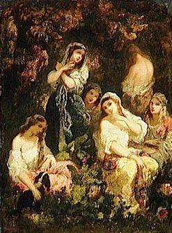 Folles filles | Narcisse Dìaz de la Peña | Oil Painting