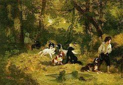 The Dog Handler | Narcisse Dìaz de la Peña | Oil Painting