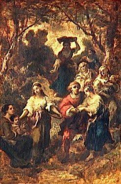 Les bohemiens   Narcisse Dìaz de la Peña   Oil Painting
