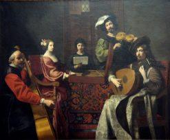 Le Concert   Nicolas Tournier   Oil Painting