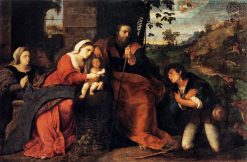 Adoration of the Shepherds with a Female Donor | Palma il Vecchio | Oil Painting