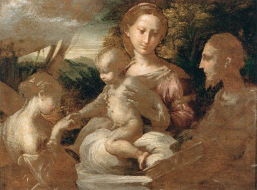 The Mystic Marriage of Saint Catherine   Parmigianino   Oil Painting