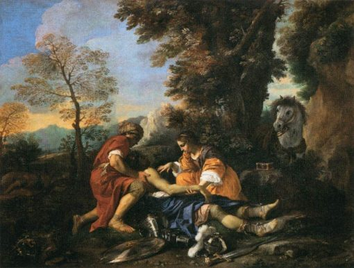 Tancred Revived by Erminia and Vafrine after the Combat with Argantes | Pier Francesco Mola | Oil Painting