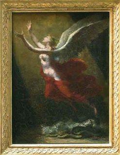 L'Ame brisant les liens qui l'attachent a la terre | Pierre Paul Prud'hon | Oil Painting