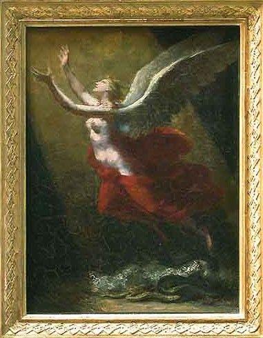 L'Ame brisant les liens qui l'attachent a la terre   Pierre Paul Prud'hon   Oil Painting