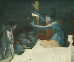 Minerva Lightening the Genius of the Arts and Sciences (unfinished) | Pierre Paul Prud'hon | Oil Painting