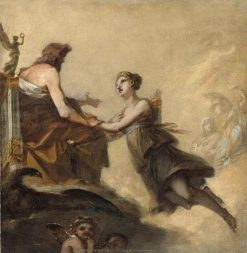 Diane imploring Jupiter not to subject it to the Laws of Hymen | Pierre Paul Prud'hon | Oil Painting