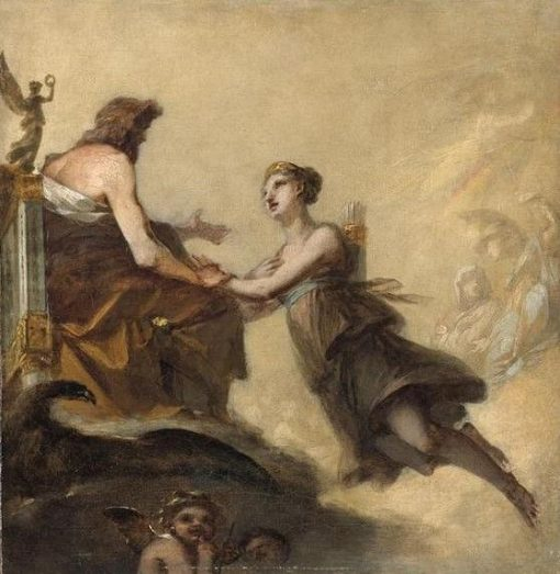 Diane imploring Jupiter not to subject it to the Laws of Hymen   Pierre Paul Prud'hon   Oil Painting