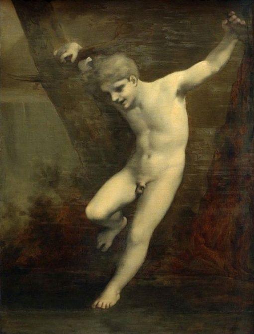 Jeune Zéphyr se balancant au-dessus de l'eau(also known as Young Zephyr balancing above the water) | Pierre Paul Prud'hon | Oil Painting