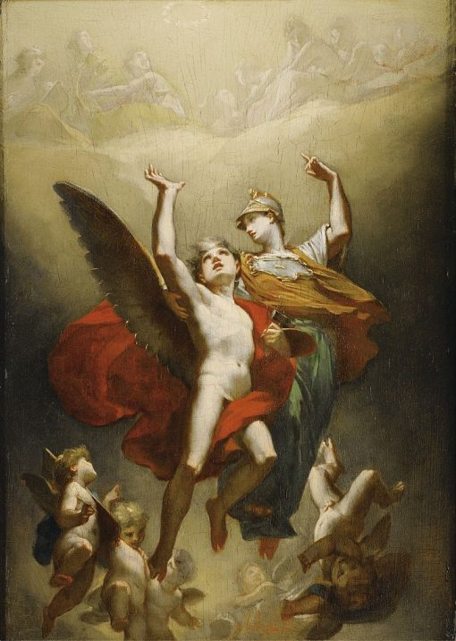Minerva Leading the Genius of Arts to Immortality | Pierre Paul Prud'hon | Oil Painting