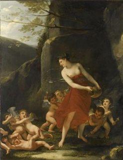Naide Lutinee with Cherubs | Pierre Paul Prud'hon | Oil Painting