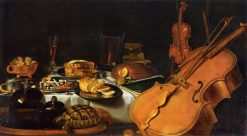 Still Life with Musical Instruments   Pieter Claesz   Oil Painting