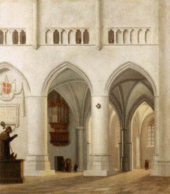 Interior of St Bavokerk in Haarlem(also known as Intérieur de l'église Saint-Bavo de Haarlem) | Pieter Saenredam | Oil Painting