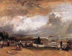 Water Basin at Versailles   Richard Parkes Bonington   Oil Painting