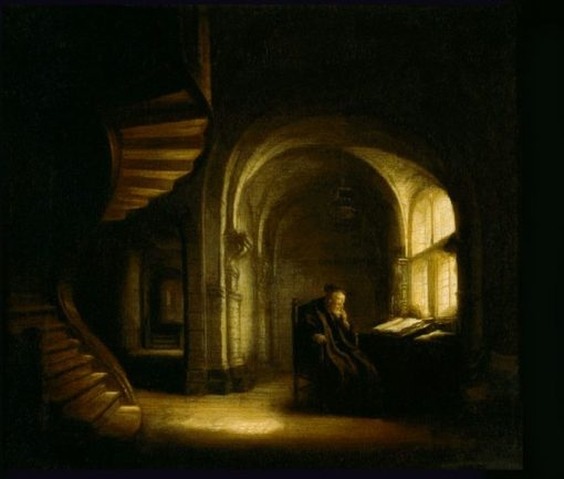 Philosopher with an Open Book | Salomon Koninck | Oil Painting