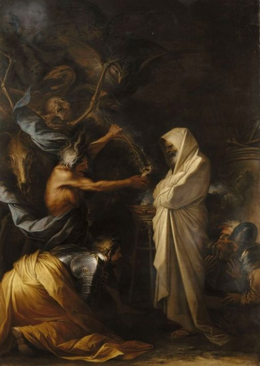 Apparition of the Spirit of Samuel to Saul(also known as The Shadow of Samuel appearing to Saul) | Salvator Rosa | Oil Painting