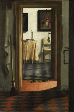 View of an Interior(also known as The Slippers) | Samuel van Hoogstraeten | Oil Painting