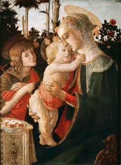 Madonna and Child with the Young John the Baptist | Sandro Botticelli | Oil Painting