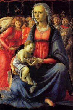 Madonna and Child with Five Angels | Sandro Botticelli | Oil Painting