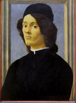 Portrait of a Young Man   Sandro Botticelli   Oil Painting