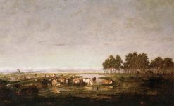 Marsh in the Landes | Theodore Rousseau | Oil Painting