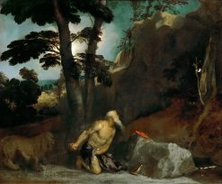 Saint Jerome in Penitence | Titian | Oil Painting