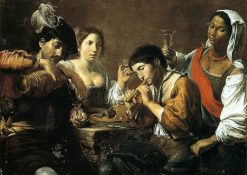 Musicians and Drinkers | Valentin de Boulogne | Oil Painting