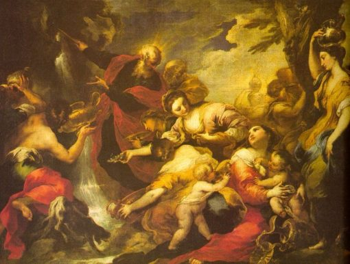 Moses Striking the Rock | Valerio Castello | Oil Painting