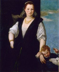 Portrait of a Woman with a Child and a Dog | Veronese | Oil Painting