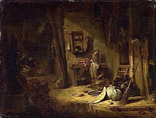 Interior of Rustic Kitchen | Willem Kalf | Oil Painting